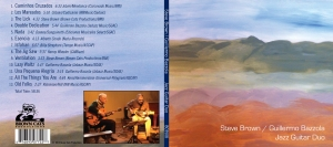"Front and back covers of CD ""Una Pequena Alegria"" by Steve Brown and Guillermo Bazzola."